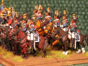 15mm, Napoleonic French Cuirassier Red Facings AB 12 fig
